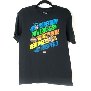 Harley Davidson | Marvel Graphic Tee